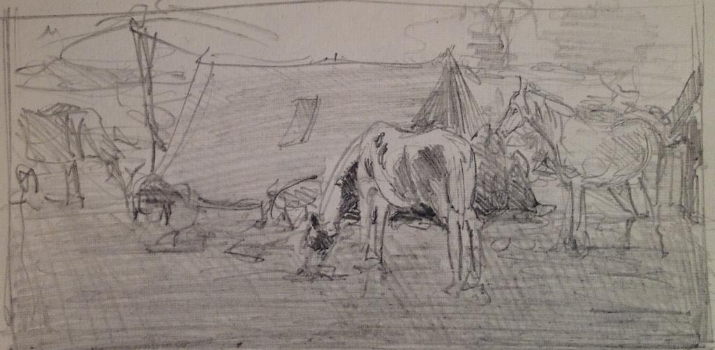 20130605 081342 jpg horse market rajasthan layout sketch pencil